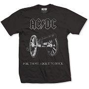 AC/DC UNISEX TEE: ABOUT TO ROCK  AC DC 4