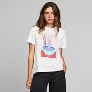 Dedicated   T-shirt Mysen Noodle Off-White 18309