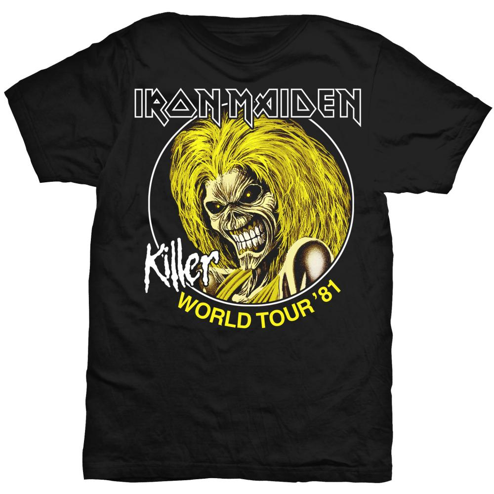 IRON MAIDEN UNISEX TEE: KILLER WORLD TOUR 81  IRON MAIDEN 1