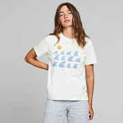 Dedicated  T-shirt Mysen Rays and Waves Off-White 18311
