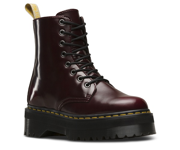 Dr. Martens  CHERRY RED OXFORD RUB OFF VEGAN JADON II  JADON V