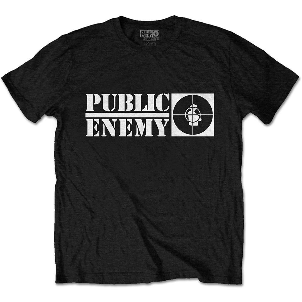 PUBLIC ENEMY UNISEX TEE: CROSSHAIRS LOGO PUBLIC ENEMY1