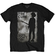 THE CURE UNISEX TEE: BOYS DON'T CRY BLACK & WHITE  CURETS04MB
