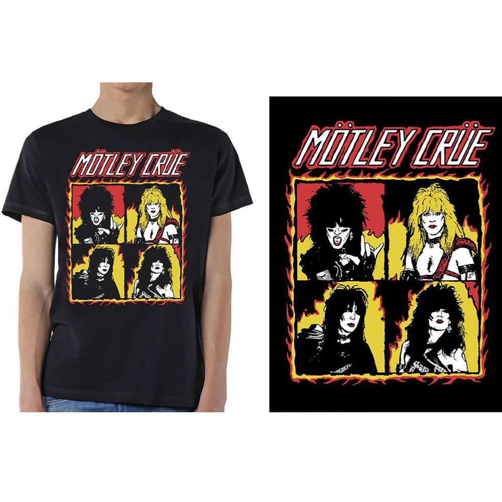 MOTLEY CRUE UNISEX TEE: SHOUT AT THE DEVIL FLAMESMOTLEY 3